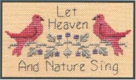Heaven & Earth SC09 mini cross stitch chart Elizabeth's Designs  - $4.00