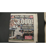 Derek Jeter 3,000 Hit News Paper LOT Daly News & New York Post July 2011... - $39.59