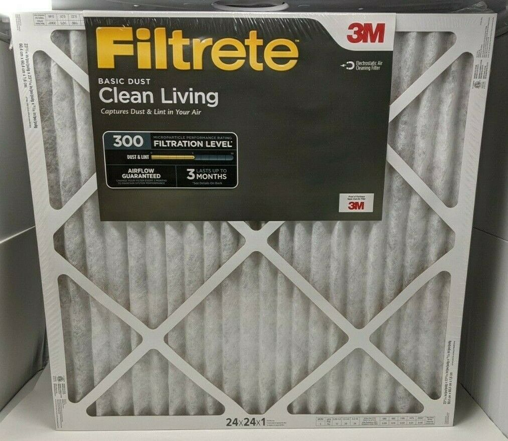 3M Filtrete Basic Dust Clean Living 300 Filtration Level Pack of 6 Filters NIB - $44.54