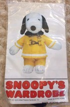 """Vintage Snoopy Outfit Wardrobe Fireman Fire Fighter 10-11"""" Plush 1958 Pe... - $14.99"""