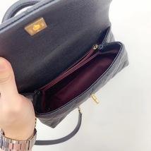 100% AUTH CHANEL SMALL COCO HANDLE BAG BLACK CAVIAR GHW image 7