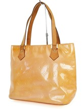 Auth LOUIS VUITTON Houston Baby Pink (Orange) Vernis Tote Bag Purse #39056 - $161.10