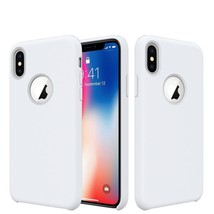 Silicone Case for iPhone XS and iPhone X with Soft Microfiber Cloth Lini... - $4.97