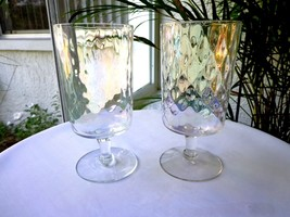 Set of 2 Waffle Pattern Clear Highball Glasses - $14.85