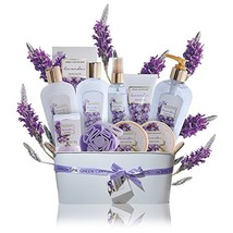 Spa Gift Baskets for Women Lavender- Lush mothers day gift set in essent... - $53.28