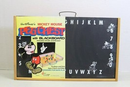 Rare Unused Vintage Disney Mickey Mouse Peg Chest Blackboard USA Made Schwab image 1