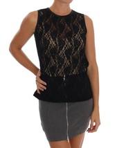 Dolce & Gabbana Black Floral Lace Blouse Top 112038 - $216.45