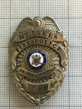Mt. Lakes New Jersey Fire Police Obsolete Badge - $150.00