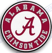 ALABAMA CRIMSON TIDE iron on embroidered PATCH COLLEGE UNIVERSITY ROLL T... - $10.95