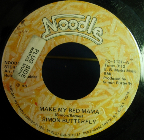 Simon Butterfly - Make My Bed Mama / Let Us Pray -Noodle Records TC-1121 DJ Copy