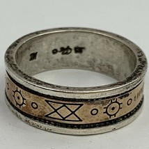 Carlisle Jewelry Symbol Storyteller Style Ring Size 7 Marked CJS 925 14K... - $59.36