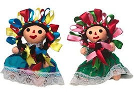 Mexican Handmade Traditional Rag Dolls 2 Pack - 5 inches - $31.05