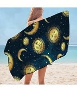 Moon and Sun in Space Microfiber Beach Towel - $22.04+