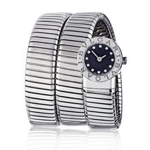 Bvlgari Tubogas Stainless Steel Diamond Dial Watch - $6,175.00