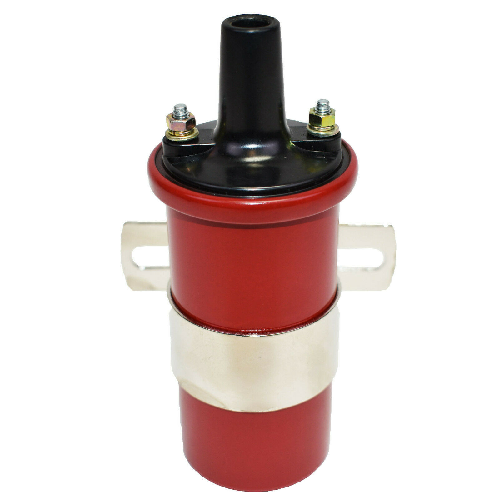 Oil-Filled Canister Style Female Remote Ignition Round Coil w/ Mounting Bracket