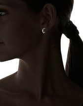 Jules Smith Ombre Gold Plated Black Stones Small Hex Hoop Stud Earrings NWT image 2