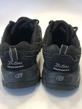 Women's Size 6 Skechers Sport D'Lites Black Leather 11469 Lace Up Shoes Sneakers - $29.35