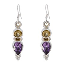 enticing Multi 925 Sterling Silver Multi Earring Natural jaipur CA gift - $13.27
