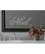 Noel Holiday Xmas Seasonal Decor Frosted Etched Glass Vinyl Quote Sticke... - $10.99+
