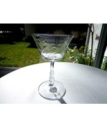 Rock Sharpe Frond Clear Liquor Cocktail Glass c1940 - 1950 Polished Floral - $9.90