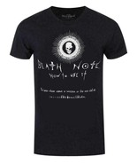 Death Note Notebook Instructions T Shirt, Black, L - $16.82