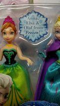 2 Walt Disney 2013 Frozen Sister Gift Sets Princess Elsa Anna Olaf toy figures image 4