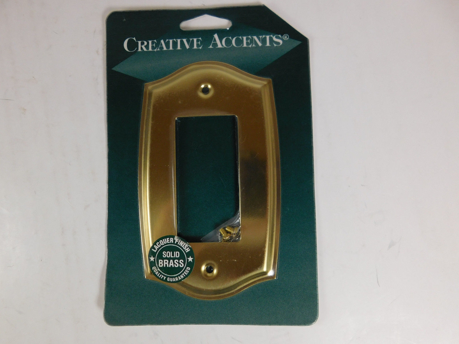 Primary image for Creative Accents Brass rocker Wall Switch Plate Cover new sealed rounded edge