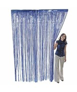 Metallic Blue Foil Fringe Curtain 3 ft. x 8 ft. (1 Piece) - $7.59