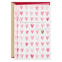 A Daughter Never Leaves Your Heart Valentine's Day Card With Envelope  - $5.99