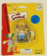 The Simpsons Homer Simpson Bobble Head Keychain - #1076 - NIP - 2002 - $9.99
