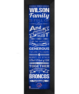 "Personalized Boise State University Broncos ""Family Cheer"" 24 x 8 Framed... - $39.95"