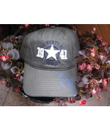 Baseball Cap hat Property of Jeep 1941 Distressed Grease Green color - $29.65