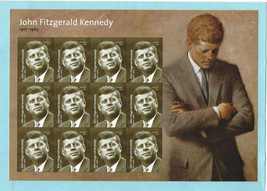 2017 mint - USPS John F Kennedy Forever Stamps 1 Sheet of 12 - Scott 517... - $10.78