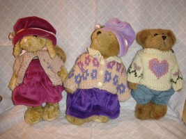 Boyds Bears 1997 Plush Bailey Edmund & Emily Spring Set - $26.99