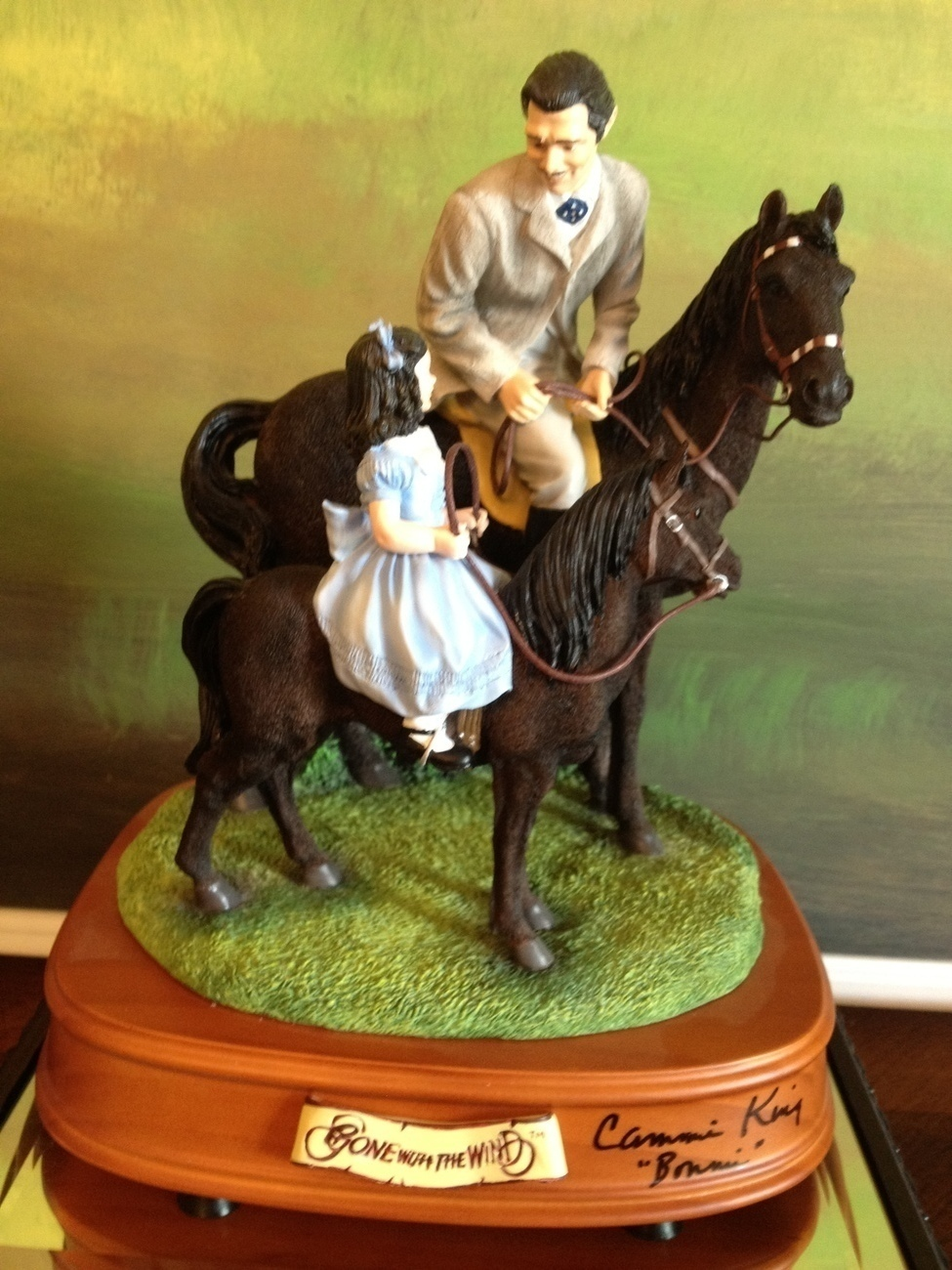Primary image for San Francisco Music Box Co-Signed Rhett &Bonnie Riding Lesson Gone With the Wind