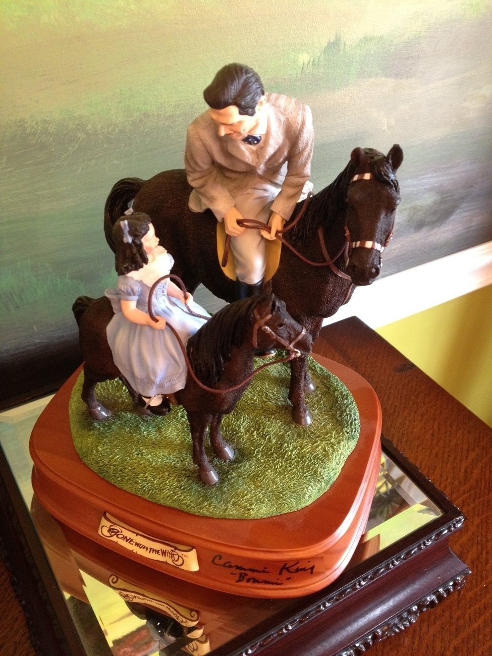 San Francisco Music Box Co-Signed Rhett &Bonnie Riding Lesson Gone With the Wind