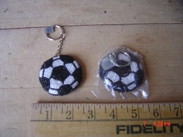 Beaded Key Chain - SOCCER - FOOTBALL Lot of TWO (2) - $9.89
