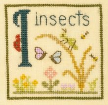 I is for Insects SC21 mini cross stitch chart Elizabeth's Designs  - $4.00