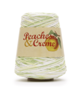 Peaches & Creme Cotton Yarn, 14 Oz. Cone, Limeade (Green, Yellow and White) - $18.95