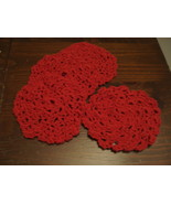 Handmade cotton baby guest face and wash cloth crocheted - $12.00