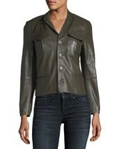 New Stylish Front Line Button Hot Women's Genuine Lambskin Leather biker Jacket