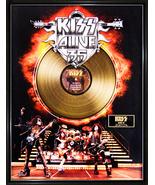 """KISS - """"Alive 35"""" Framed 20""""x 26"""" 24k Gold LP - Limited Edition 2,500 - $214.95"""