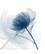 Wieco Art Blue Flickering Flower Modern Abstract Canvas Wall Art Gallery... - $40.90