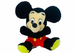 "Walt Disney Plush Stuffed Animal Vtg Mickey Mouse 1977 productions 10"" e... - $28.98"