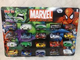 Maisto Marvel 20-Piece Diecast Car Set 1:64 2003 NIB NOS Sealed - $48.37