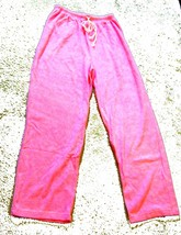 One Hanes Place Pink Terrycloth Cinch Waist Pants Sz Large & X-Large - $29.99