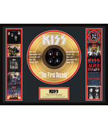 """KISS """"The First Decade"""" Framed 20""""x 26"""" 24k Etched Gold LP-Limited Editi... - $214.95"""