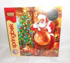 Springbok Puzzle Santa Christmas 1000 Piece 24 x 30 Joy Around World NEW... - $24.73