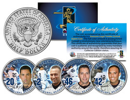 YANKEES CORE FOUR 4-Coin Set JFK Half Dollars US - JETER MARIANO POSADA ... - $21.46