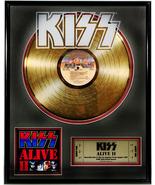 """KISS - """"Alive II"""" Framed 16""""x 20"""" 24k Gold LP  - $214.95"""